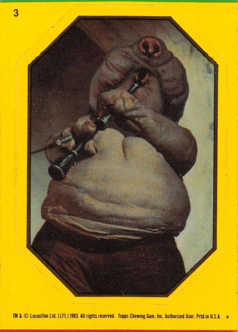 1983 Topps Star Wars Return Of The Jedi Stickers