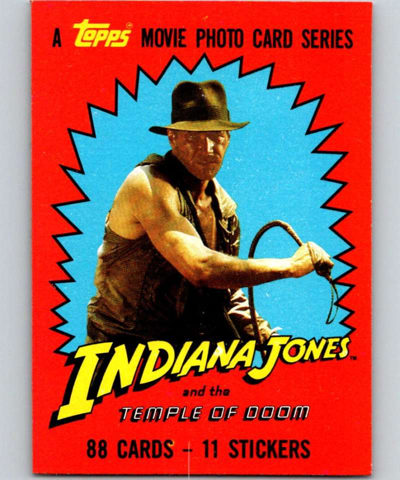 1984 Topps Indiana Jones and the Temple of Doom