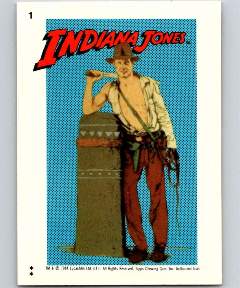 1984 Topps Indiana Jones and the Temple of Doom Stickers