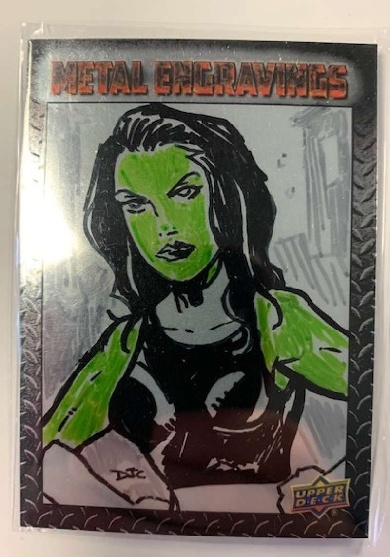 2015 Upper Deck Marvel Vibranium Metal Engraving Sketches