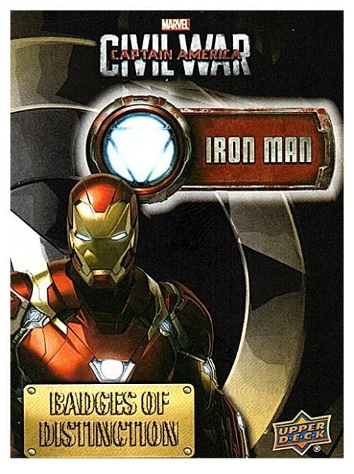 2016 Upper Deck Captain America Civil War Strained Relationships