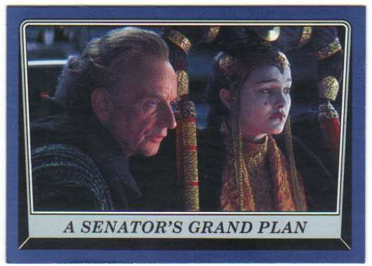 2016 Topps Star Wars Rogue One Mission Briefing Blue #1 A Senator's grand plan