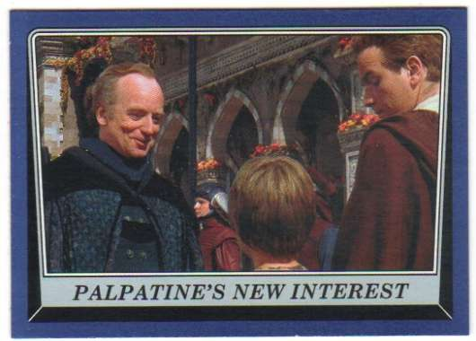 2016 Topps Star Wars Rogue One Mission Briefing Blue #3 Palpatine's new interest
