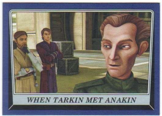 2016 Topps Star Wars Rogue One Mission Briefing Blue #10 When Tarkin met Anakin