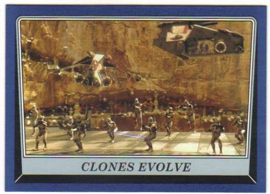 2016 Topps Star Wars Rogue One Mission Briefing Blue #11 Clones Evolve