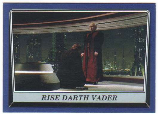 2016 Topps Star Wars Rogue One Mission Briefing Blue #12 Rise Darth Vader