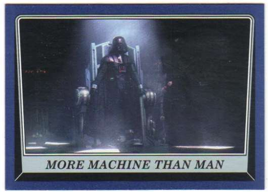 2016 Topps Star Wars Rogue One Mission Briefing Blue #15 More Machine than man