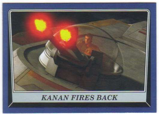2016 Topps Star Wars Rogue One Mission Briefing Blue #20 Kanan fires back