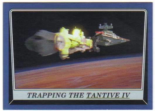 2016 Topps Star Wars Rogue One Mission Briefing Blue #21 Trapping the Tantive IV