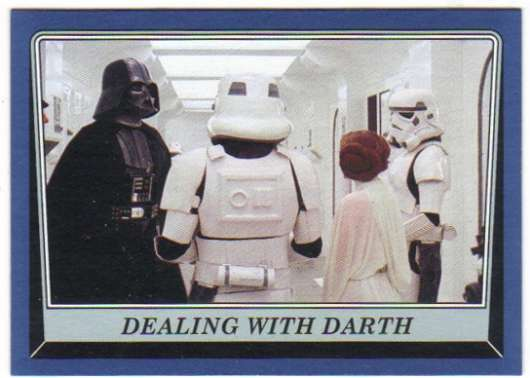 2016 Topps Star Wars Rogue One Mission Briefing Blue #25 Dealing with Darth