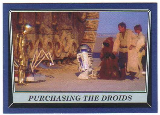 2016 Topps Star Wars Rogue One Mission Briefing Blue #26 Purchasing the droids