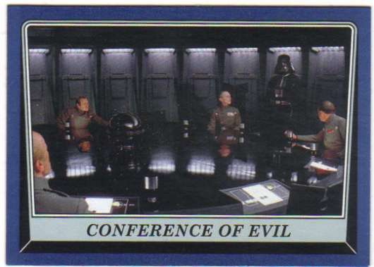 2016 Topps Star Wars Rogue One Mission Briefing Blue #29 Conference of Evil