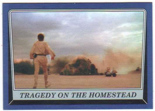 2016 Topps Star Wars Rogue One Mission Briefing Blue #30 Tragedy on the Homestead