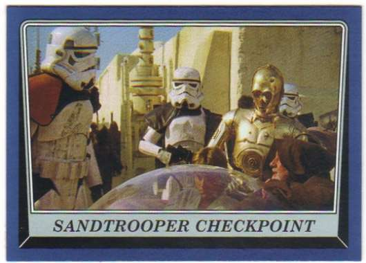 2016 Topps Star Wars Rogue One Mission Briefing Blue #31 Sandtrooper Checkpoint