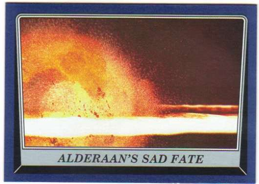 2016 Topps Star Wars Rogue One Mission Briefing Blue #33 Alderaan's sad fate