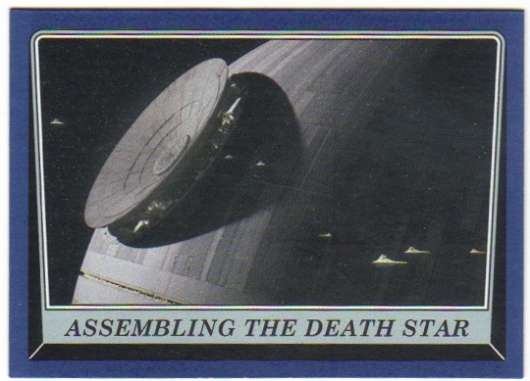 2016 Topps Star Wars Rogue One Mission Briefing Blue #105 Assembling the Death Star