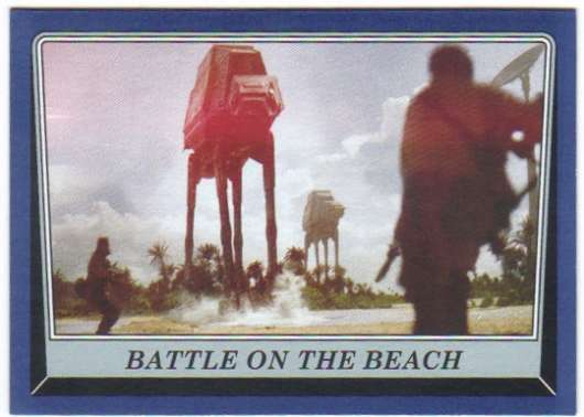 2016 Topps Star Wars Rogue One Mission Briefing Blue #106 Battle on the Beach