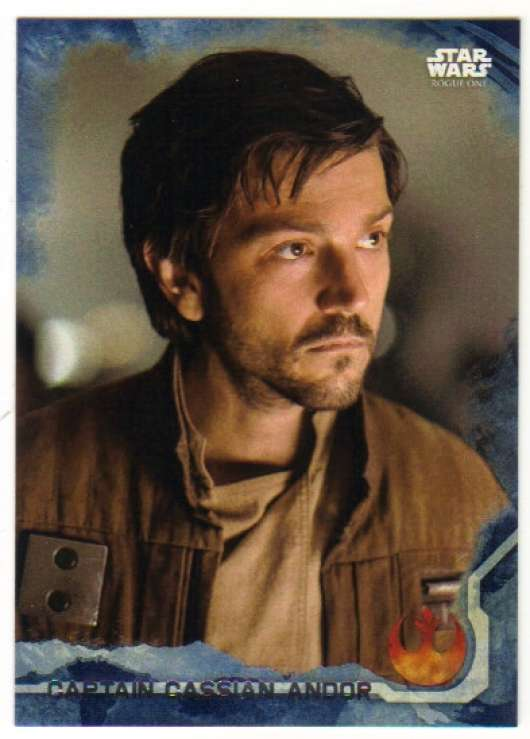 2016 Topps Star Wars Rogue One Blue Squadron #2 Captain Cassian Andor