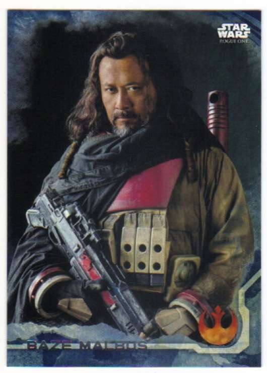 2016 Topps Star Wars Rogue One Blue Squadron #3 Baze Malbus