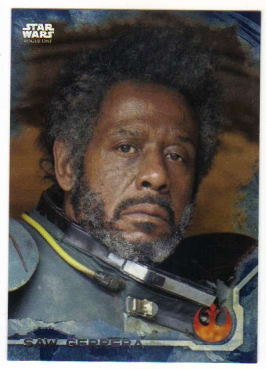 2016 Topps Star Wars Rogue One Blue Squadron #6 Saw Gerrera