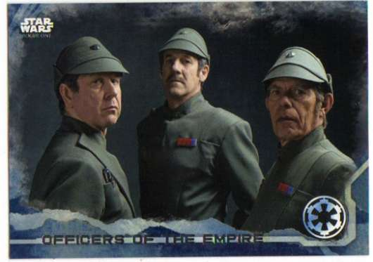 2016 Topps Star Wars Rogue One Blue Squadron #16 Officers of the Empire