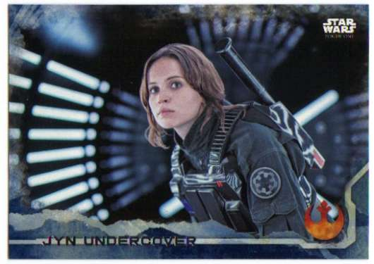 2016 Topps Star Wars Rogue One Blue Squadron #21 Jyn Undercover