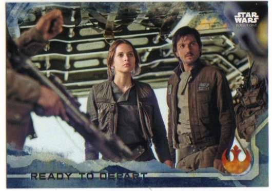 2016 Topps Star Wars Rogue One Blue Squadron #24 Ready to Depart