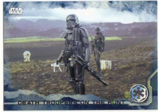 2016 Topps Star Wars Rogue One Blue Squadron #32 Death Troopers on the Hunt
