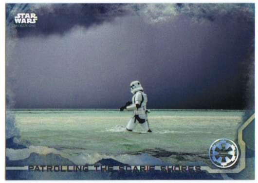 2016 Topps Star Wars Rogue One Blue Squadron #35 Patrolling the Scarif Shores