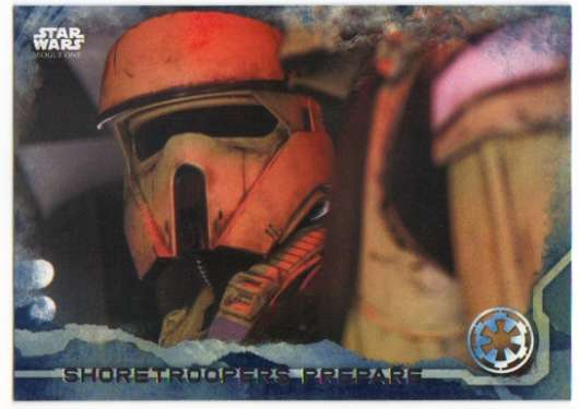 2016 Topps Star Wars Rogue One Blue Squadron #42 Shoretroopers prepare