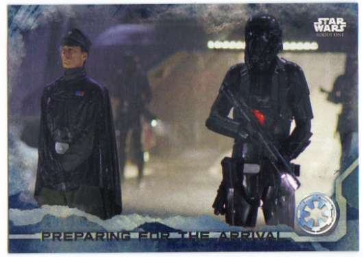 2016 Topps Star Wars Rogue One Blue Squadron #45 Preparing for the arrival