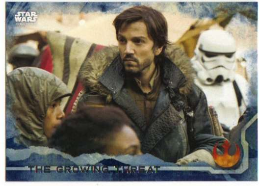 2016 Topps Star Wars Rogue One Blue Squadron #47 The Growing Threat