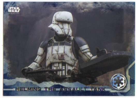 2016 Topps Star Wars Rogue One Blue Squadron #59 Helming the Assault Tank