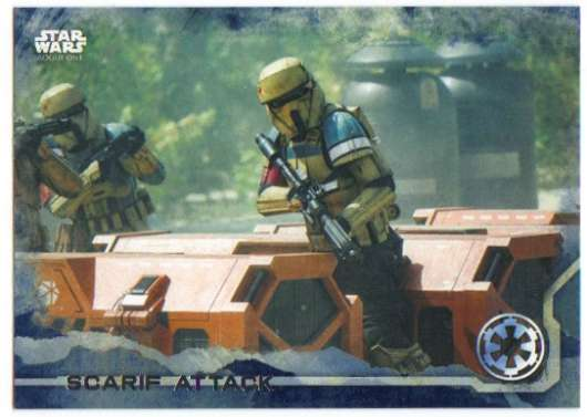 2016 Topps Star Wars Rogue One Blue Squadron #60 Scarif Attack