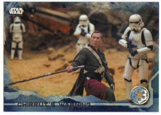 2016 Topps Star Wars Rogue One Blue Squadron #81 Chirrut's Warning