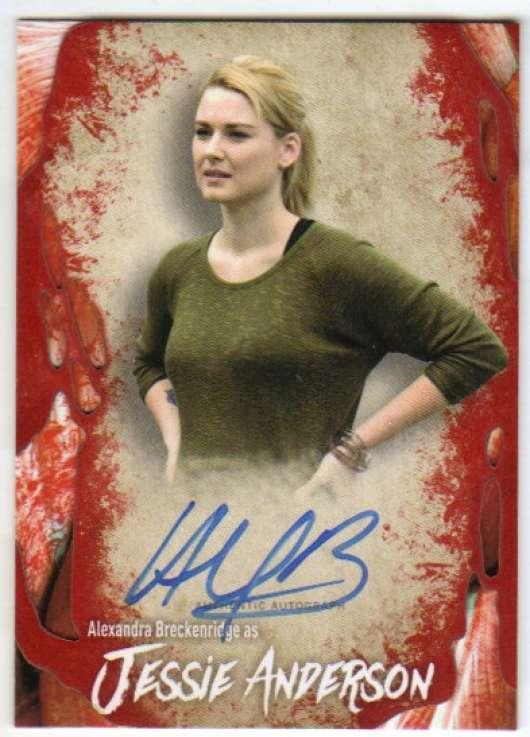 2016 Topps Walking Dead Survival Box Autographs