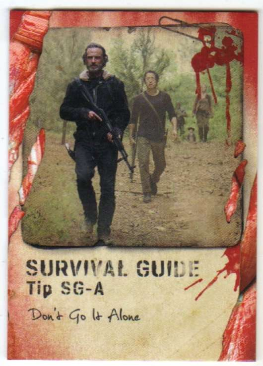 2016 Topps Walking Dead Survival Box Survival Guide