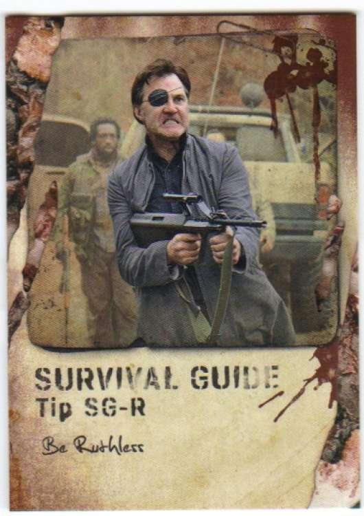 2016 Topps Walking Dead Survival Box Survival Guide Rotten