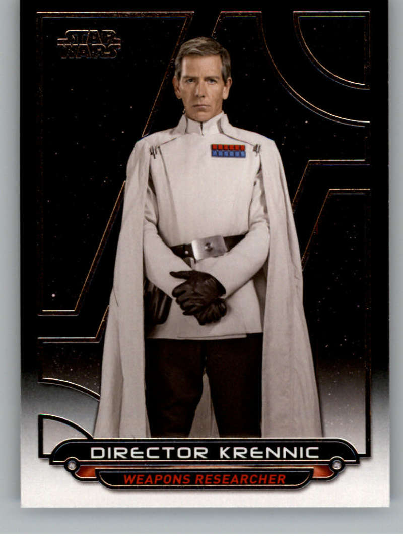 2017 Topps Star Wars Galactic Files Reborn #RO-6 Director Krennic Official Motion Picture Collectible Trading Card