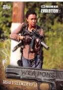 2017 Topps Walking Dead Evolution Weapons #W-6 Sasha's Silencer Rifle