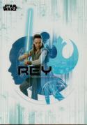 2017 Topps Star Wars The Last Jedi Character Die-Cut Sticker #DS-4 Rey