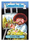 2018 Topps Garbage Pail Kids Series 1 We Hate the 80s Trading Cards 80s CELEBRITIES Black #7B HAPPY TRE
