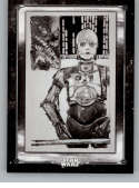 2018 Topps Star Wars A New Hope Black and White Poster Cards #PO-7 C-3PO, Human/Cyborg Relations