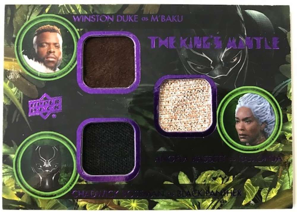 2018 Upper Deck Black Panther The King's Mantle Triple Memorabilia