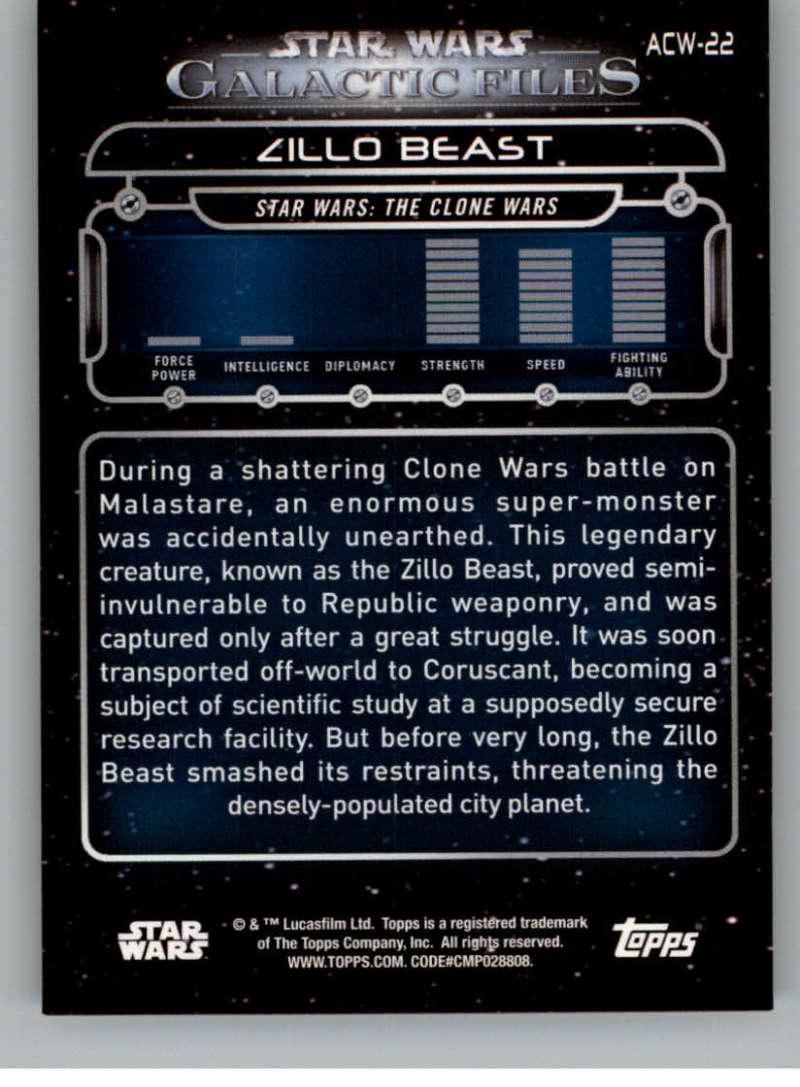 Star Wars Galactic Files 2018 Blue Base Card REB-22 Yogar Lyste