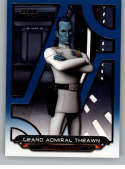 2018 Topps Star Wars Galactic Files (Update) Blue #REB-17 Grand Admiral Thrawn Rebels Official Movie Trading Card