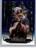 2018 Topps Star Wars Galactic Files (Update) Blue #ROTJ-21 Chewbacca Return of the Jedi Official Movie Trading Card