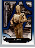 2018 Topps Star Wars Galactic Files (Update) Blue #TLJ-9 C-3PO The Last Jedi Official Movie Trading Card