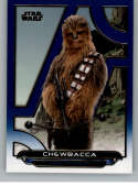 2018 Topps Star Wars Galactic Files (Update) Blue #TLJ-10 Chewbacca The Last Jedi Official Movie Trading Card