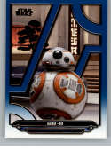 2018 Topps Star Wars Galactic Files (Update) Blue #TLJ-17 BB-8 The Last Jedi Official Movie Trading Card